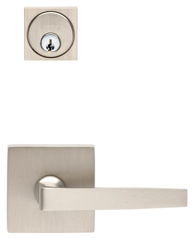 Item No.2036SF (Square Rose Exterior Modern Mortise Entrance Lever Lockset - Solid Brass)