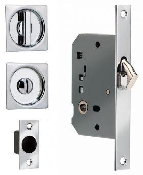 Item No.3911S (Sliding Pocket Door Mortise Lock - Solid Brass)