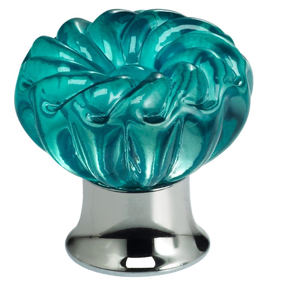Finish: Transparent Jade Glass with US26 (Polished Chrome) Base