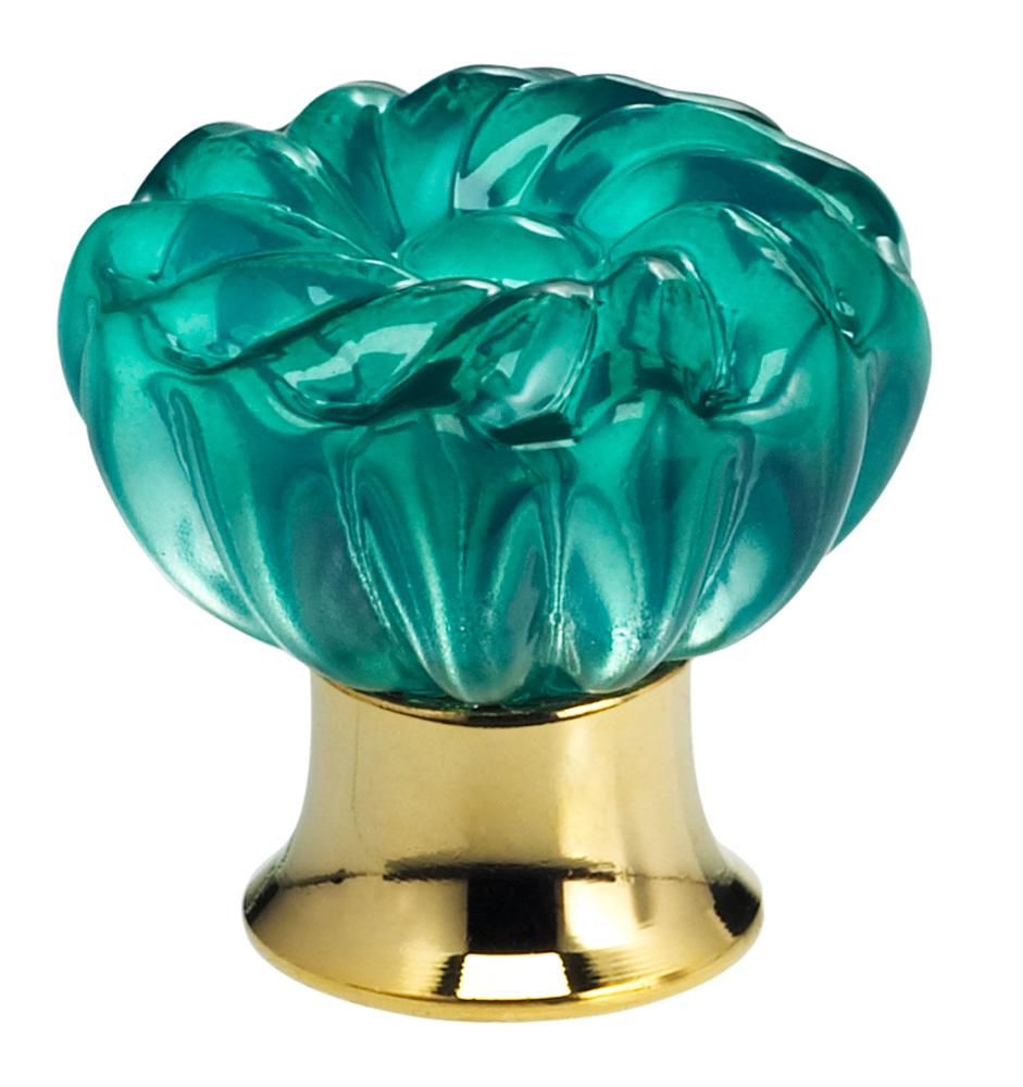 Finish: Transparent Jade Glass with US3 (Polished Brass) Base