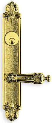 Item No.60231 (Ornate Narrow Backset Lever Lockset - Solid Brass)