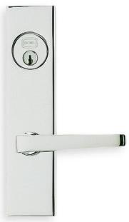 Item No.64036 (Modern Narrow Backset Lever Lockset - Solid Brass)