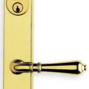 Item No.65752 (Traditional Narrow Backset Lever Lockset - Solid Brass)