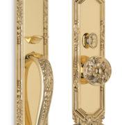 Item No.Amagansett w/ 232 interior trim (Exterior Ornate Mortise Entrance Handleset Lockset - Solid Brass)