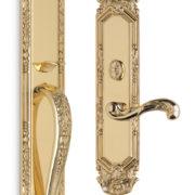Item No.Amagansett w/ 251 interior trim (Exterior Ornate Mortise Entrance Handleset Lockset - Solid Brass)