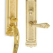 Item No.Bridgehampton w/ 252 trim (Exterior Ornate Mortise Entrance Handleset Lockset - Solid Brass)