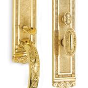 Item No.Bridgehampton w/ 294 trim (Exterior Ornate Mortise Entrance Handleset Lockset - Solid Brass)