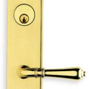 Item No.D3752 (Exterior Traditional Deadbolt Entrance Lever Lockset - Solid Brass )
