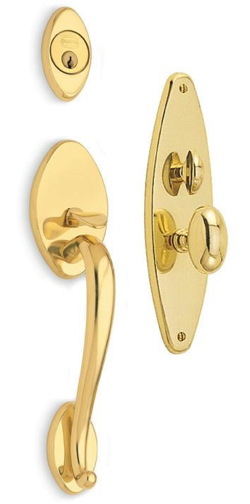 Item No.Estate w/ 432 trim (Exterior Traditional Mortise Entrance Handleset Lockset - Solid Brass)