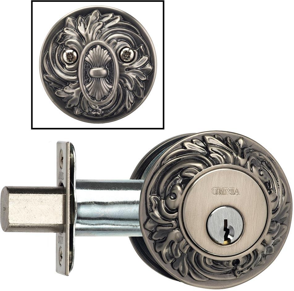 Item No.FLORDB (Ornate Auxiliary Deadbolt Kit – Solid Brass)