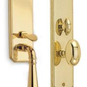Item No.Manor w/ 432 trim (Exterior Traditional Mortise Entrance Handleset Lockset - Solid Brass)