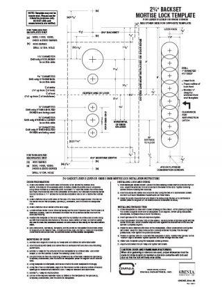 OMNIA 2-3/4″ Backset Mortise Locksets Installation Template