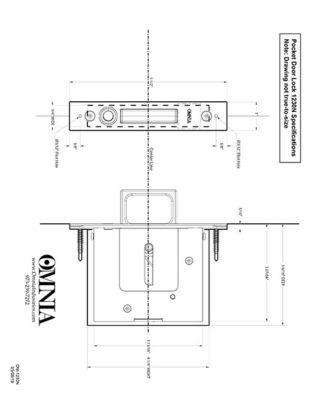 OMNIA 7012, 7035, 7036, 7037 & 7039 Pocket Door Lock Installation Template for Passage (N)