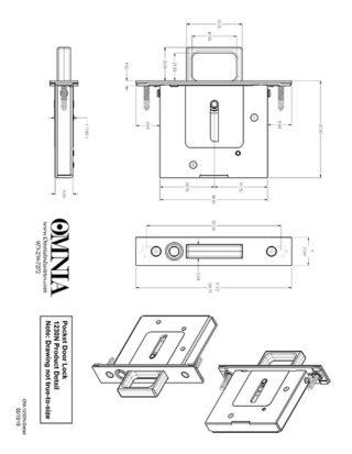 OMNIA 7012, 7035, 7036, 7037 & 7039 Pocket Door Lock Product Detail for Passage (N)