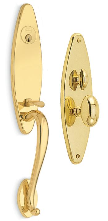 Item No.Tudor w/ 432 trim (Exterior Traditional Mortise Entrance Handleset Lockset - Solid Brass)
