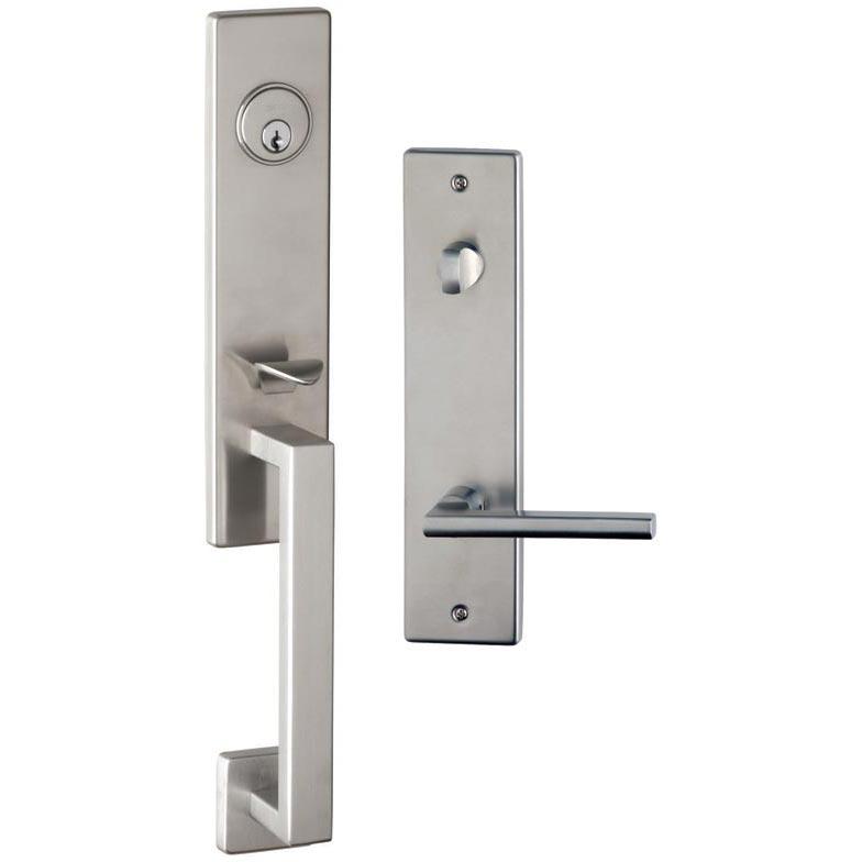 Item No.Urban w/ 43 trim (Exterior Modern Tubular Deadbolt Entrance Handleset Lockset - Stainless Steel)
