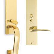 Item No.Waldorf w/ 42 trim (Exterior Traditional Mortise Entrance Handleset Lockset - Solid Brass)