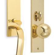 Item No.Waldorf w/ 198 trim (Exterior Traditional Mortise Entrance Handleset Lockset - Solid Brass)